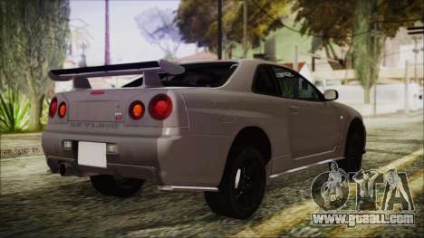 Nissan Skyline Nismo Body Kit for GTA San Andreas left view