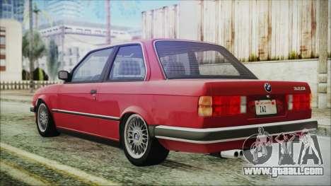 BMW 320i E21 1985 SA Plate for GTA San Andreas left view