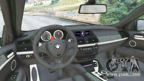 GTA 5 BMW X6 M (E71) v1.5 rear right side view