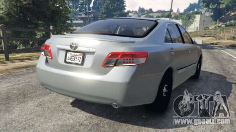 GTA 5 Toyota Camry 2011 rear left side view