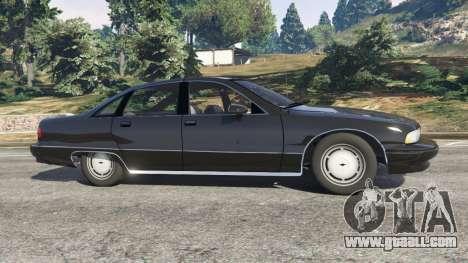 Chevrolet Caprice 1991 v1.2 for GTA 5