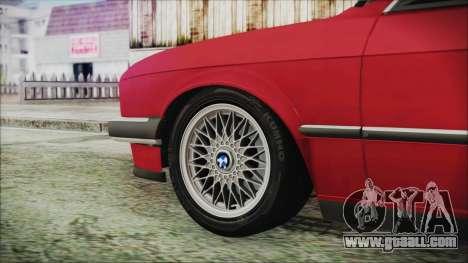BMW 320i E21 1985 SA Plate for GTA San Andreas back left view