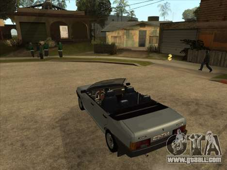 VAZ 21099 Convertible for GTA San Andreas back left view