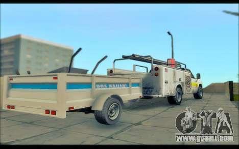 GTA V Utility Trailer for GTA San Andreas back left view