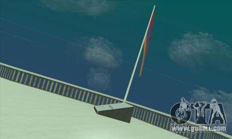 Armenia flag on mount Chiliad for GTA San Andreas second screenshot