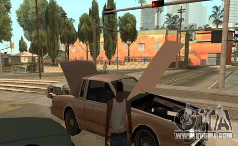Open the hood or trunk hands for GTA San Andreas third screenshot