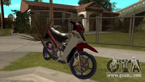 Yamaha 125z for GTA San Andreas inner view