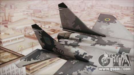 MIG-29 Fulcrum Ukrainian Falcons for GTA San Andreas back left view