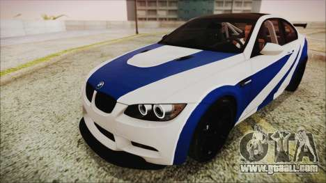 BMW M3 GTS 2011 HQLM for GTA San Andreas back view