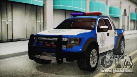 Ford F-150 SVT Raptor 2012 Police Version for GTA San Andreas