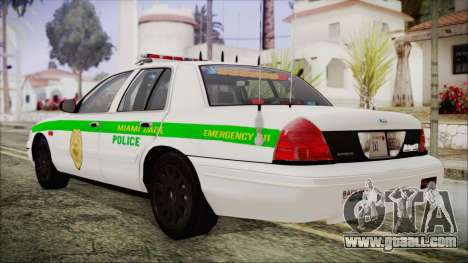 Ford Crown Victoria Miami Dade for GTA San Andreas left view