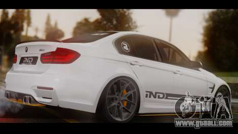 BMW M3 F30 IND EDITION for GTA San Andreas left view