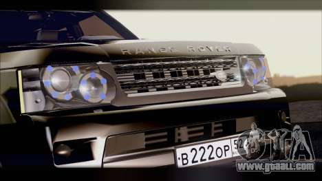 Range Rover Sport 2012 for GTA San Andreas back left view