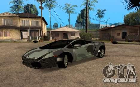Lamborghini Gallardo Tunable v2 for GTA San Andreas back view