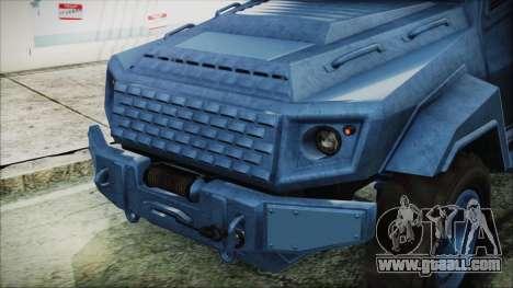 GTA 5 HVY Insurgent Van IVF for GTA San Andreas back view