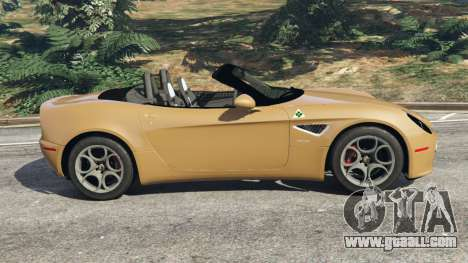 GTA 5 Alfa Romeo 8C Spider 2012 left side view