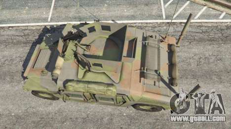 GTA 5 HMMWV M-1116 [woodland] back view