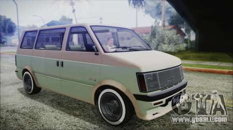 GTA 5 Declasse Moonbeam Custom IVF for GTA San Andreas back left view