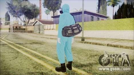 GTA 5 Online The Heist Gasmask Dark for GTA San Andreas third screenshot