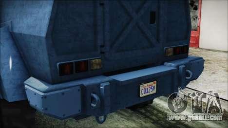 GTA 5 HVY Insurgent Van IVF for GTA San Andreas inner view