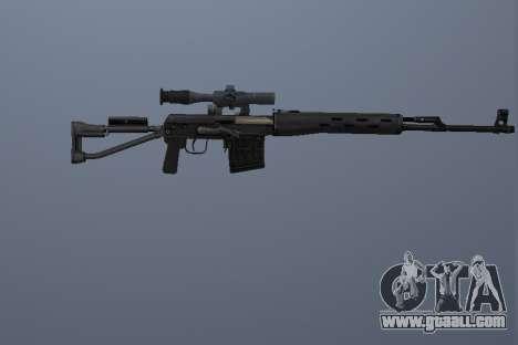 Dragunov Sniper Rifle for GTA San Andreas third screenshot