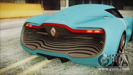Renault Dezir Concept 2010 v1.0 for GTA San Andreas back view