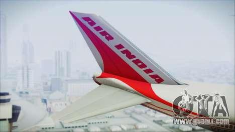 Boeing 747-237Bs Air India Emperor Ashoka for GTA San Andreas back left view