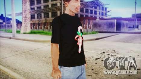 T-Shirt Cane Christmas for GTA San Andreas second screenshot