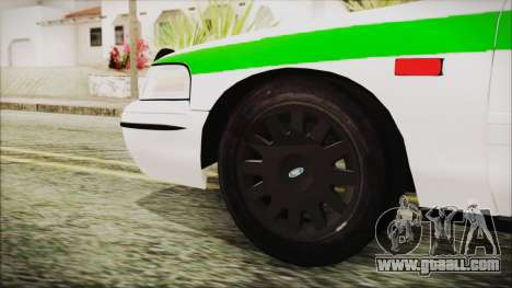 Ford Crown Victoria Miami Dade for GTA San Andreas back left view