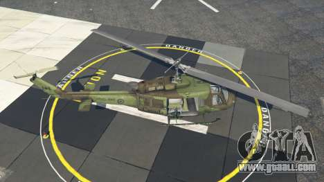 GTA 5 Bell UH-1D Huey Royal Canadian Air Force fourth screenshot