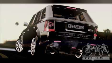 Range Rover Sport 2012 for GTA San Andreas right view