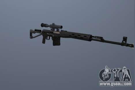 Dragunov Sniper Rifle for GTA San Andreas second screenshot