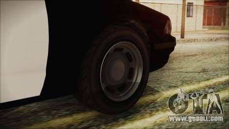GTA 5 Vapid Stranier II Police Cruiser for GTA San Andreas back left view