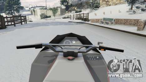 GTA 5 Snowmobile rear right side view
