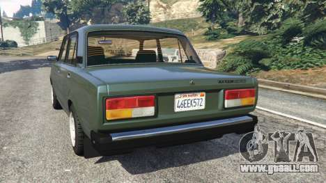 GTA 5 VAZ-2107 [Riva] v1.1 rear left side view