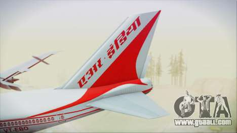 Boeing 747-237Bs Air India Vikramaditya for GTA San Andreas back left view