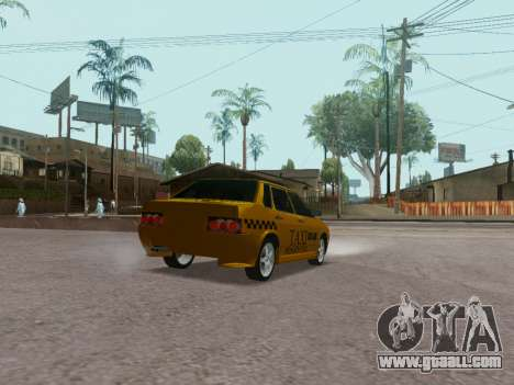 VAZ 21099 Tuning Russian Taxi for GTA San Andreas back left view