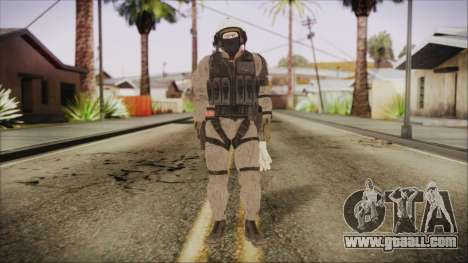 XOF Soldier (Metal Gear Solid V Ground Zeroes) for GTA San Andreas second screenshot