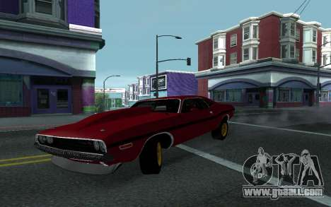 Dodge Challenger Tunable for GTA San Andreas back view