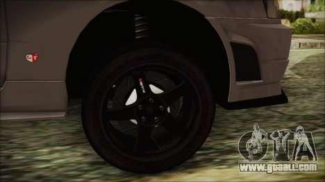 Nissan Skyline Nismo Body Kit for GTA San Andreas back left view