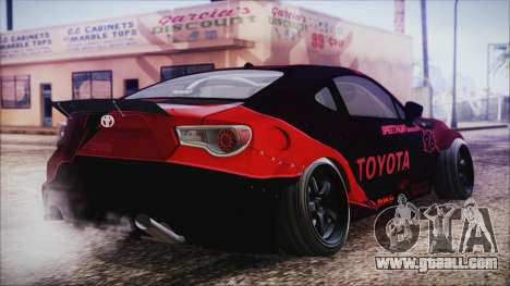Toyota GT86 Speedhunters for GTA San Andreas left view
