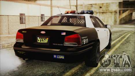 GTA 5 Vapid Stranier II Police Cruiser for GTA San Andreas left view