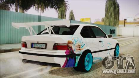 BMW M3 E36 Frozen for GTA San Andreas left view