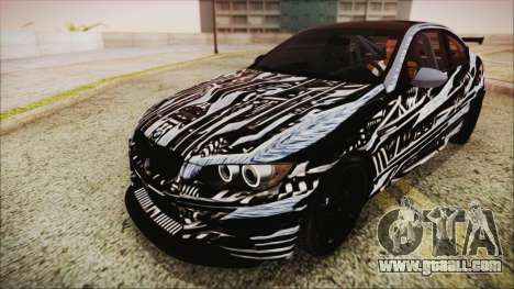 BMW M3 GTS 2011 HQLM for GTA San Andreas upper view