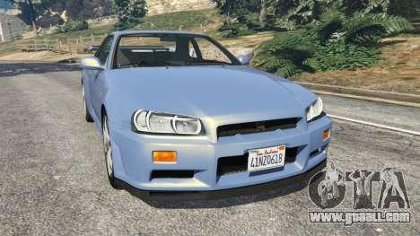 Nissan Skyline R34 2002 for GTA 5