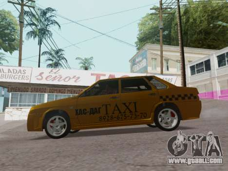 VAZ 21099 Tuning Russian Taxi for GTA San Andreas left view