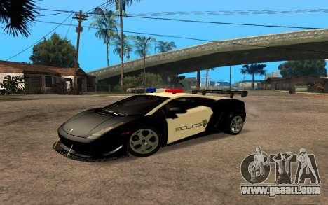 Lamborghini Gallardo Tunable v2 for GTA San Andreas back left view