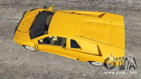 GTA 5 Lamborghini Diablo Viscous Traction 1994 back view