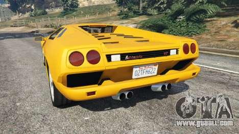 GTA 5 Lamborghini Diablo Viscous Traction 1994 rear left side view