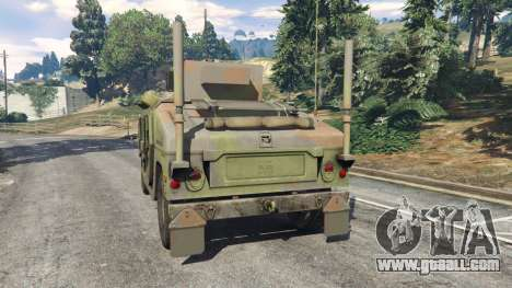 GTA 5 HMMWV M-1116 [woodland] rear left side view